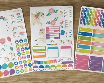 Bright Unicorn Weekly Kit - for use with Erin Condren LIFEPLANNER(TM)