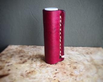 Leather Chapstick holder