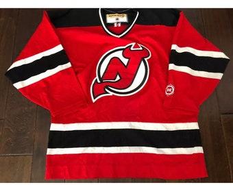 Vintage Koho New Jersey Devils NHL Hockey Sewn JerseyMen/Adult Lg