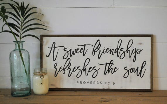 A SWEET FRIENDSHIP 1'X2' sign