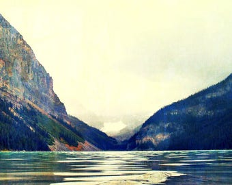 Mountain art, lake and mountains photo, lake moraine, canada art, rockies photos, alberta photography, rocky mountains, poster print