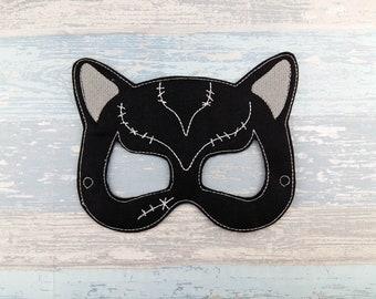 Cat Mask - Black Cat Mask - Cat Woman Mask - Halloween Mask - Cosplay Mask - Felt Mask - Hero Mask - Party Favors - Party Mask