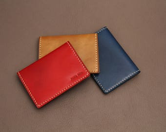 Peronalizsed Leather Card Case, leather Card Holder by NAVICO