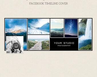 Facebook Timeline Cover - Facebook Timeline Template - PSD Template - Customize Facebook Page - Instant Download - F222