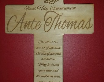 Personalised wall crosses for christening, baptism, 1st holy communion, confirmation