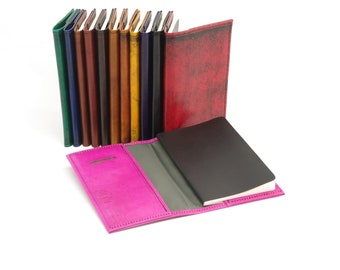 Leather Pocket Journal Cover for Moleskine Pocket Volant (3 1/2 x 5 1/2 inches)