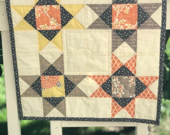 Quilted Table Runner - Modern Table Runner - Quilted Table Decor - Quilted Table Topper - Quilted Wall Hanging - Quilted Table Mat