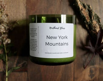 Soy candle // Wine bottle candle // New York Candle // Mountain candle
