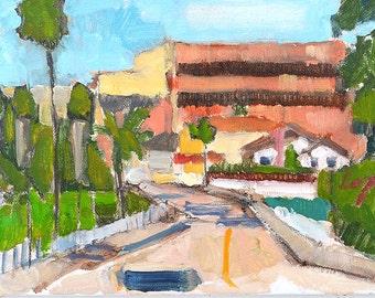 San Diego Art, Plein Air Landscape Painting Hillcrest
