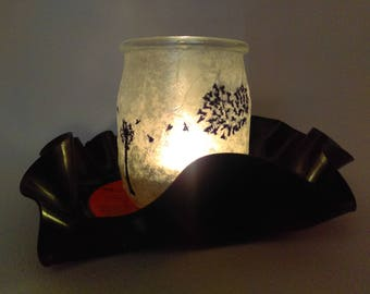 """""""Dandelion"""" in vinyl and glass candle"""