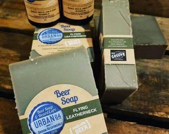 Flying Leatherneck Beer Soap - 5 oz Inglenook Soaps Home Scents Home Goods Flying Leatherneck Soap Pthtlatate-Free
