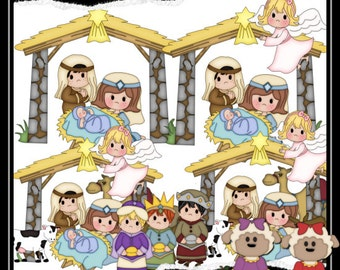 The Nativity 1 Clipart (Digital Download)