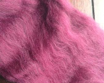 1oz Merino Burgundy Wool Spinning Fiber Limited Edition