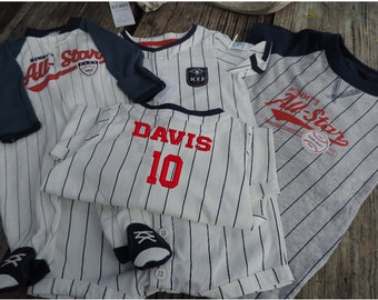 Personalized Baby Baseball Outfit Romper