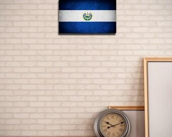 El Salvador Canvas Flag