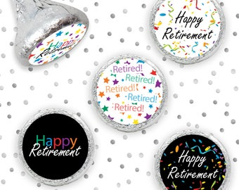 Retirement Party Decorations Favors Stickers for Hershey Kisses, Envelope Seals, Party Favors (Set of 324 Stickers)