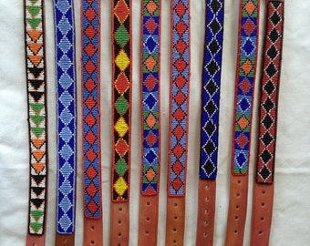 Beaded Maasai dog collars