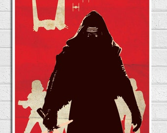 Star Wars Kylo Ren Vintage Poster Print