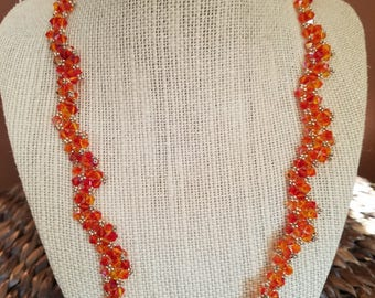 Orange Swarovski Crystal Necklace