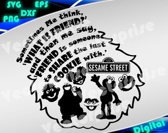 Sesame Street svg Sesame Street Clipart Sesame Street silhouette stencil file cricut vector cut file cutting file vector files