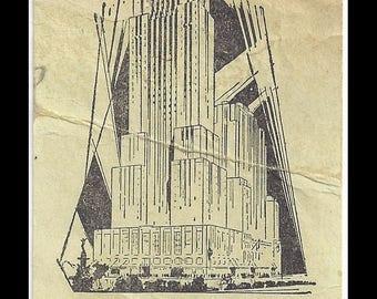 Cincinnati Ohio 1954 Carew Tower Ticket Stub