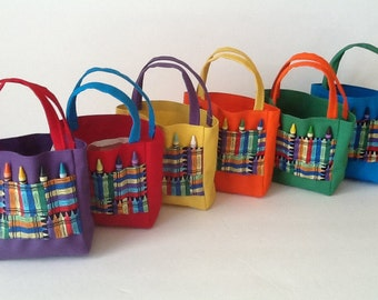 Art Party Children's Crayon Bag and Customized Paper, Party Favor Bags