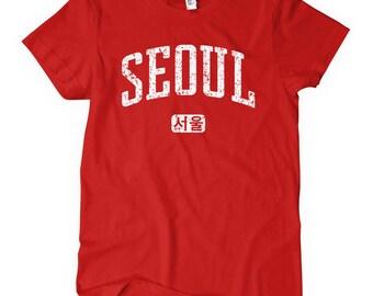 Women's Seoul Tee - S M L XL 2x - Ladies Seoul Korea T-shirt - South Korea - Korean Shirt - 4 Colors