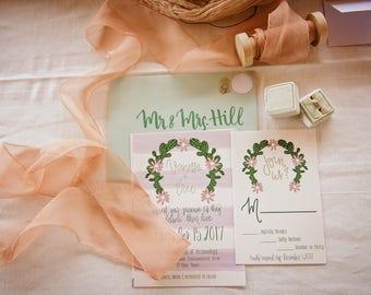 Cactus Desert Wedding Invitation Suite - Fully Customized
