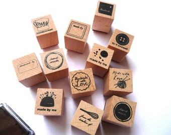 Stempelset Stempel Handmade Made by