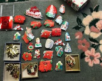 Vintage Christmas Stickers Gummed Seals Lot of over 200