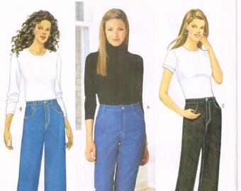 Butterick 6437 - jeans, pants -Size 6, 8, 10 - Uncut
