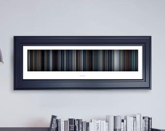 Arrival // Movie Poster // Movie Barcode // Oscar Film // Academy Awards // Wall Decor // Panoramic