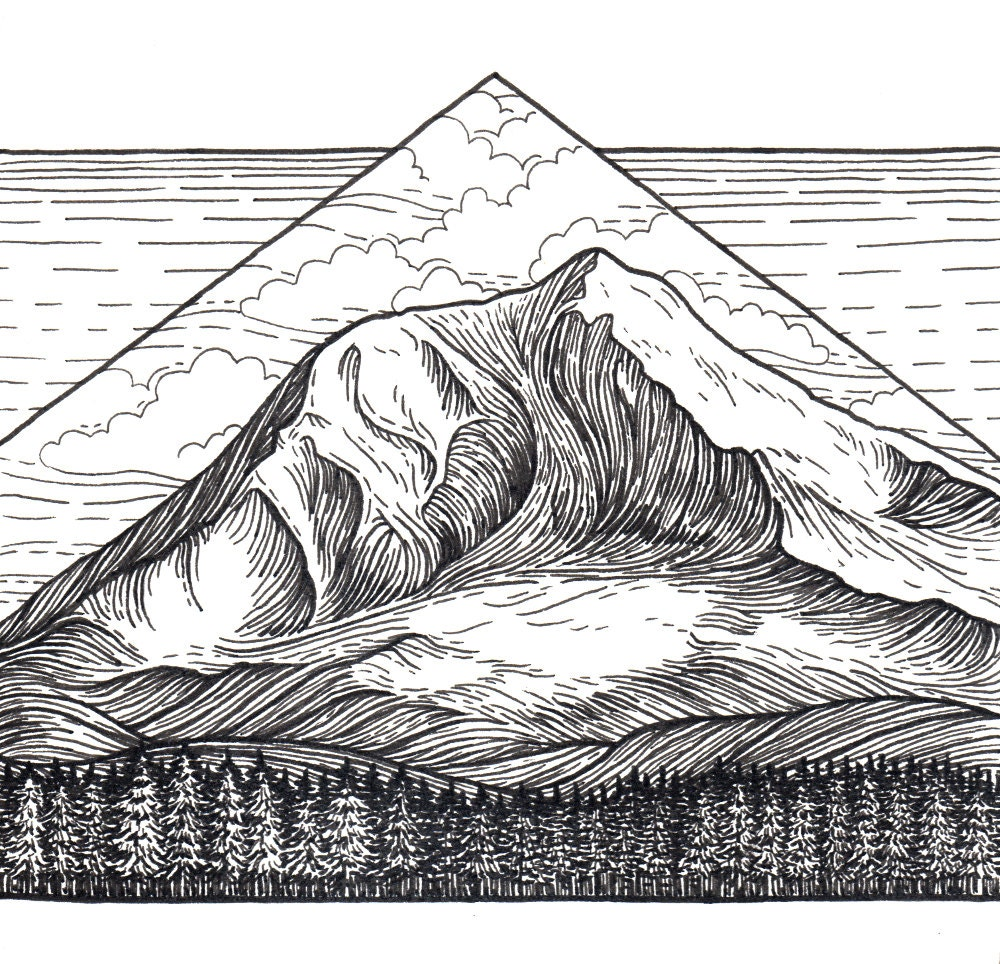 It's just a graphic of Handy Mt Rainier Drawing