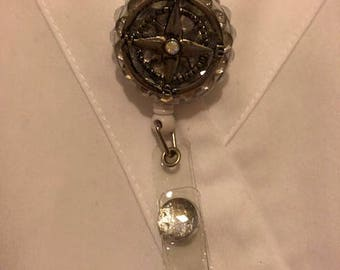 Not all who wonder are lost retractable badge reel