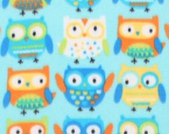Adorable Owls Fleece Tied Blanket