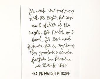 For each new morning... // Handlettered Print