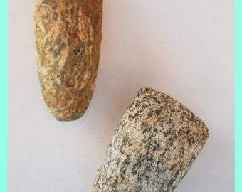 SAHARAN GRIND STONES - Domestic Stone Tools, Tribally used. From the Sahara Desert, Africa.