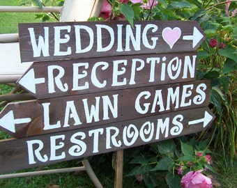 Rustic Wedding Signs / wood signs / custom sign / personalized sign / wedding decorations / wedding signage / reception sign / ceremony sign