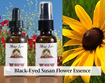 Black-Eyed Susan Flower Essence, 1 oz Dropper or Spray for Safely Integrating Traumatic or Shadow Aspects of One's Consciousness