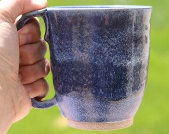 Blue mug, coffee mug, morning brew mug