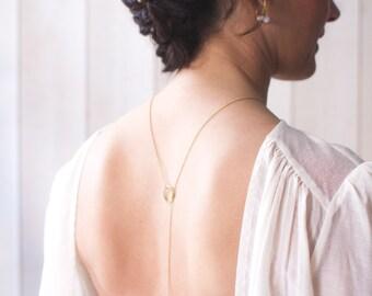 DESTASH tie string, white cluster necklace brass balls