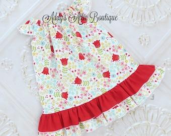Girls Flutter Sleeve Dress, Toddler Girls Dress, Baby Girls Dress, Sundress, Floral Sundress