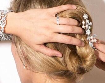 Crystal Pearl Hair Comb