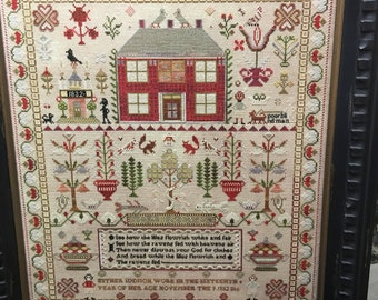 Esther Iddison 1832 Sampler by Chessie & Me