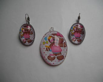 "set of 2 single pieces ""gluttony"" earrings"