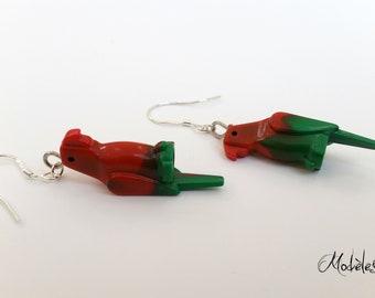 Parrot LEGO earrings