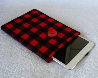 """Buffalo Plaid, IPad Mini Case, Kindle Fire Case, IPad Mini Cover, Kindle Fire HDX Cover, Nook HD Cover, Small Tablet Cover, 8 1/2"""" x 5 3/4"""""""