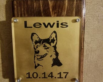 Laser made pet memorial