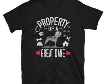 Great Dane Shirt Property Of A Great Dane Gift T-Shirt