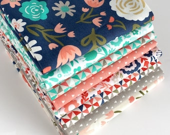 Riley Blake's Heart & Soul Fat Quarter Bundle - 8pc FQ Bundle, Quilting Fabric, Quilting Supplies